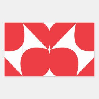 Hearts Linked Rectangular Sticker