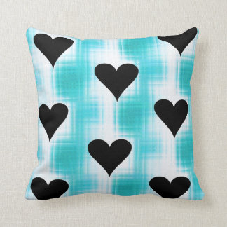 Hearts Of Black Pillow