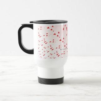 Hearts On Pink Coffee Mug