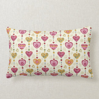 hearts pattern love art throw pillows