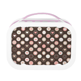 Hearts pattern lunch box