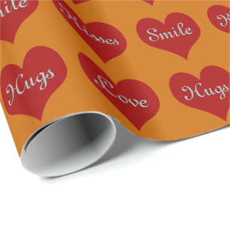 Hearts - Roll Gift Wrapping Paper COLOR CHANGE