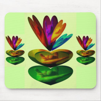 Hearts Speak I Love You in ASL Mouse Pad