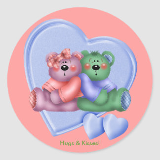 Hearts Teddy Bear Love Stickers