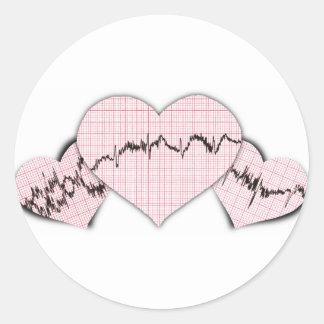 Hearts Together Round Sticker