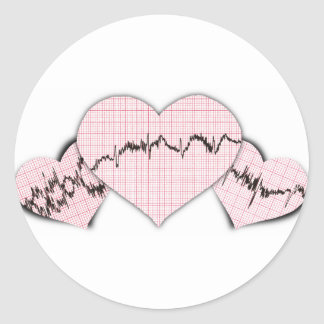 Hearts Together Round Stickers