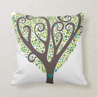 Hearts Tree Throw Pillows
