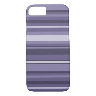 Heather purple stripes iPhone 7 case