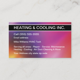 317 heating and air conditioning business cards and heating and air heating and cooling air conditioning business card reheart Image collections