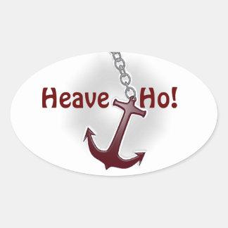 Heave Ho Anchor Oval Sticker