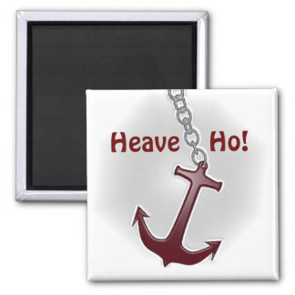 Heave Ho Anchor Square Magnet