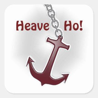 Heave Ho Anchor Square Sticker