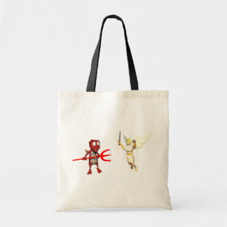 Heaven And Hell Tote Bags
