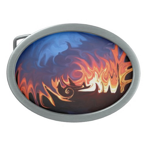 Heaven and Hell Oval Belt Buckle