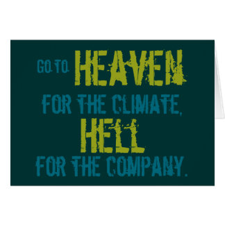 Heaven and hell greeting cards