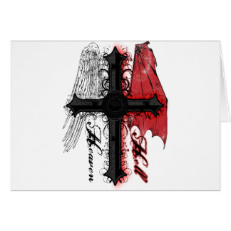Heaven and Hell Greeting Card