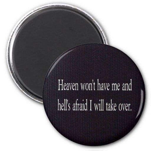 Heaven and Hell Fridge Magnet