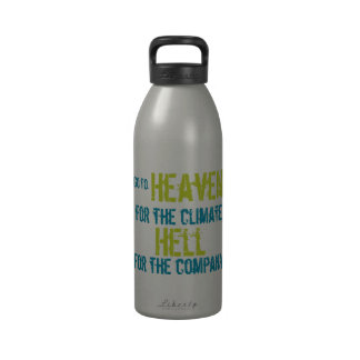 Heaven and hell water bottles