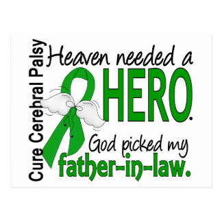 Heaven Needed a Hero CP Father-In-Law Postcard