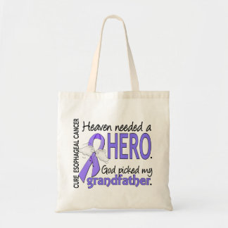 Heaven Needed Hero Esophageal Cancer Grandfather Budget Tote Bag