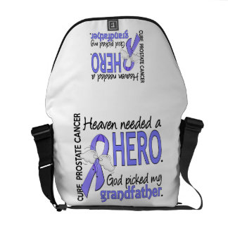 Heaven Needed Hero Prostate Cancer Grandfather Courier Bags