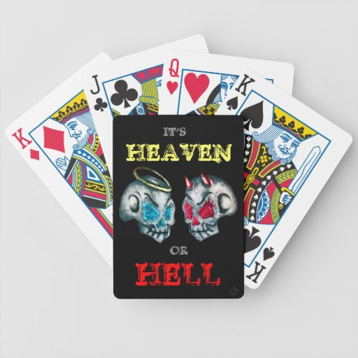 Heaven Or Hell Bicycle Poker Cards