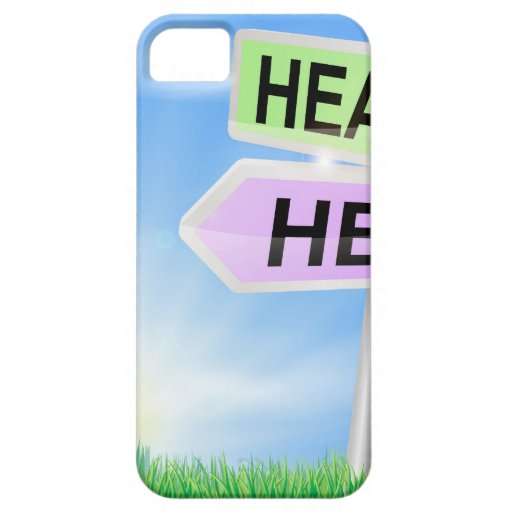 Heaven or hell sign concept iPhone 5/5S cases