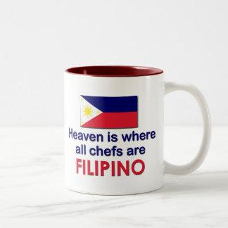 Heavenly Filipino Chefs Two-Tone Coffee Mug
