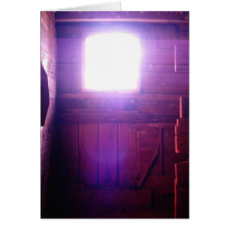 Heavenly Light in the Barn Loft Window Photo Card