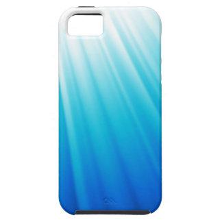 Heavenly Light Ombre white aqua blue Tough iPhone 5 Case
