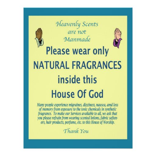 Heavenly Scent teal prayer Custom Flyer