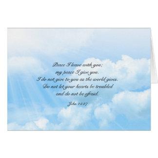 Heavens Blue Sky Christian Sympathy Message Card
