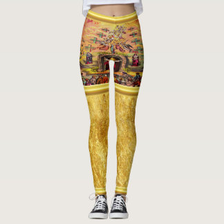 Heaven's Gate with a gold foil texture and Jesus Leggings