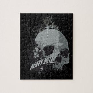 Heavy Metal Skull Jigsaw Puzzle