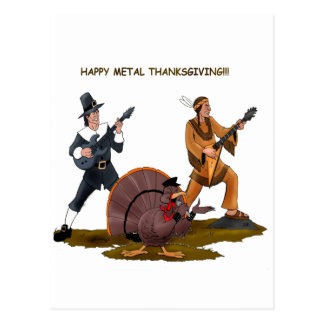 Heavy Metal Thanksgiving Gift Items Postcard