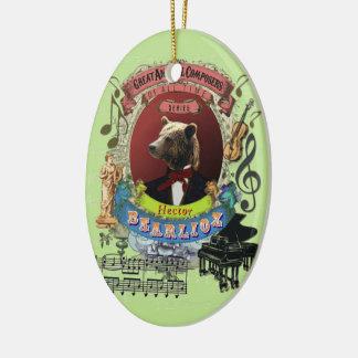 Hector Bearlioz Bear Animal Composer Berlioz Christmas Ornament