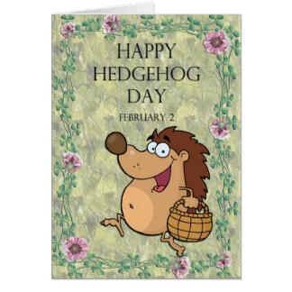 Hedgehog Day February 2 Card