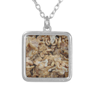 Hedgehog Mushrooms Silver Plated Necklace