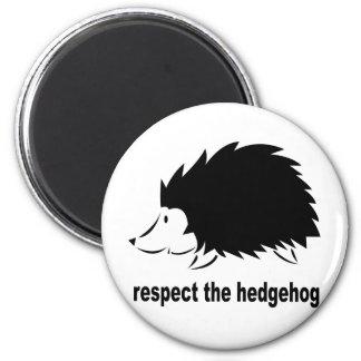 Hedgehog - Respect the Hedgehog 6 Cm Round Magnet