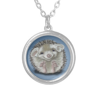 Hedgehog Silver Plated Necklace