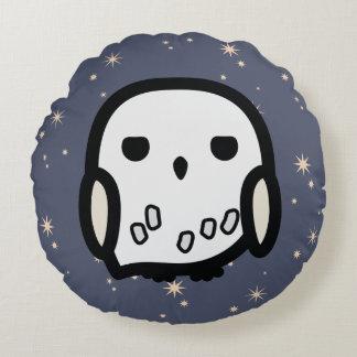 Hedwig Cartoon Character Art Round Cushion