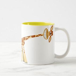Hee Hee Hee!! Cartoon Giraffe mug