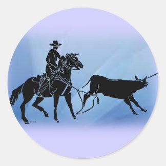 Heeler 102 classic round sticker