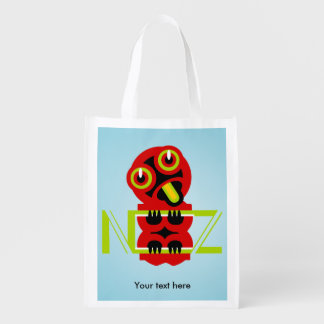 Hei Tiki Maori Design NZ New Zealand Reusable Grocery Bag
