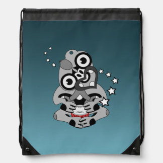 Hei Tiki New Zealand Drumming Drawstring Bag