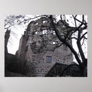 Heidelberg Castle Tower Poster