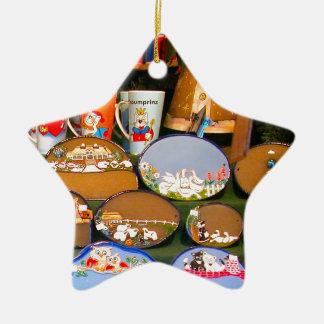 Heidlelberg Christmas market Ceramic Star Decoration