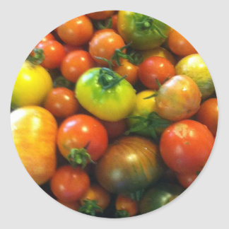 Heirloom tomatoes classic round sticker