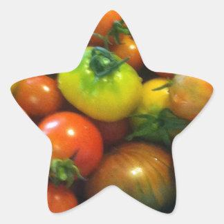 Heirloom tomatoes star sticker