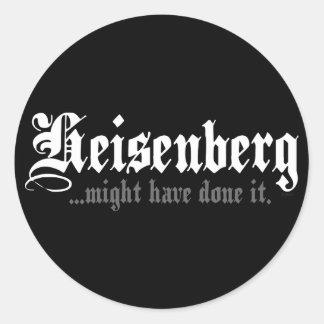 Heisenberg... Classic Round Sticker